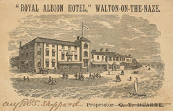 Advert for the Royal Albion Hotel 9062